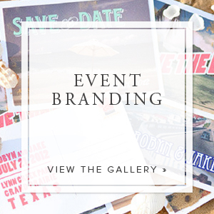 We believe an exquisite invitation is just the beginning. We create comprehensive event brands that are carried through every detail of an event from the menus and programs to the signage and décor. Every detail is meticulously designed and custom-made to reflect the overall brand or theme.