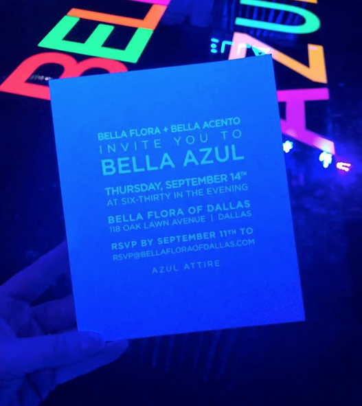 Black Light Invitation